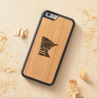 Minnesota State Name Word Art Black Carved Cherry iPhone 6 Bumper Case