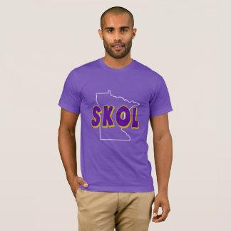 Minnesota State Outline SKOL T-shirt