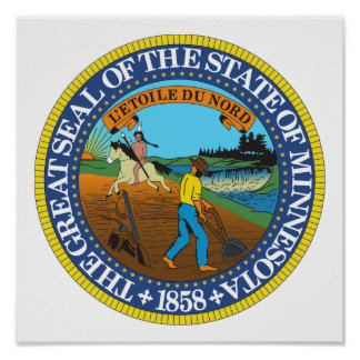 Minnesota State Seal Poster