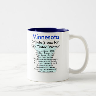 Minnesota Symbols & Map Two-Tone Coffee Mug