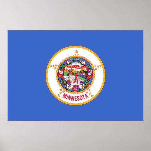 Minnesota, United States flag Poster