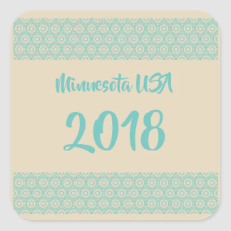 Minnesota USA 2018 square sticker