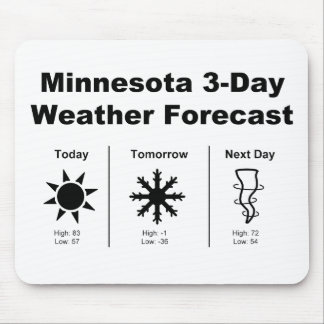 Minnesota Weather Forecast Mouse Pad