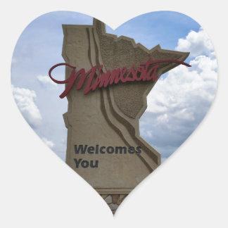 Minnesota Welcomes You Sticker