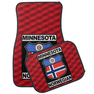Minnesotan Norwegian American Car Mat Set