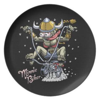 Minnie Biker Plate