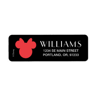 Minnie | Black and White Polka Dot Monogram Return Address Label