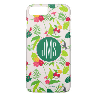 Minnie & Daisy | Tropical Pattern Monogram iPhone 7 Plus Case