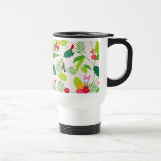 Minnie & Daisy | Tropical Pattern Travel Mug