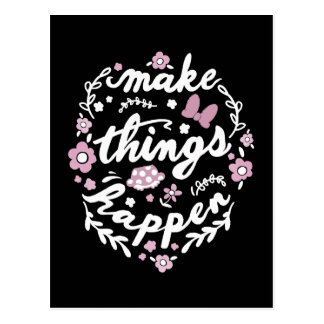 Minnie | Make Things Happen Postcard