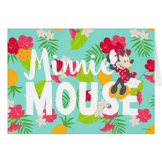 Minnie | Minnie's Tropical Pose Card