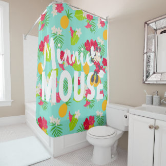 Minnie | Minnie's Tropical Pose Shower Curtain