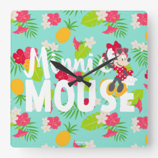 Minnie | Minnie's Tropical Pose Square Wall Clock