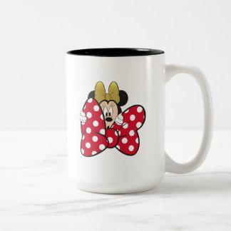 Minnie Mouse | Bow Tie Two-Tone Coffee Mug