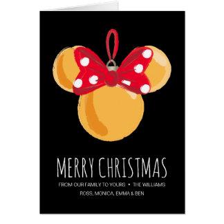 Minnie Mouse Christmas Ornament Card