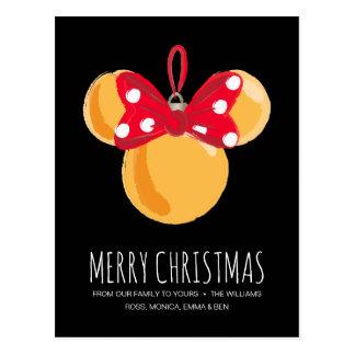 Minnie Mouse Christmas Ornament Postcard