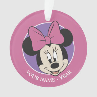 Minnie Mouse | Classic Smiling Add Your Name Ornament