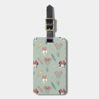 Minnie Mouse & Daisy Duck | Dream Catcher Pattern Luggage Tag