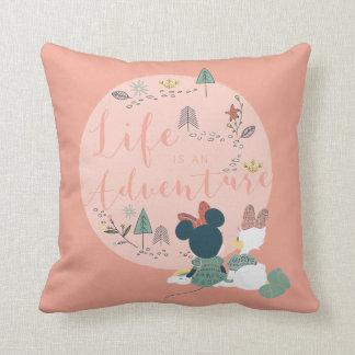 Minnie Mouse & Daisy Duck | Life is an Adventure Cushion