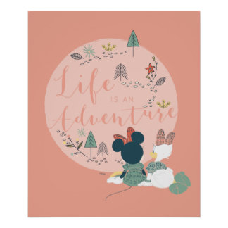 Minnie Mouse & Daisy Duck | Life is an Adventure Poster