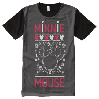 Minnie Mouse   Decoration Pattern All-Over Print T-Shirt