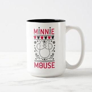 Minnie Mouse | Decoration Pattern Two-Tone Coffee Mug