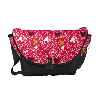 Minnie Mouse | Doodle Pattern Courier Bags