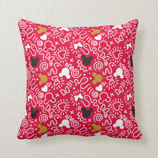 Minnie Mouse | Doodle Pattern Cushion