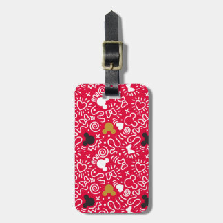 Minnie Mouse | Doodle Pattern Luggage Tag