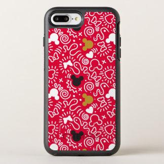 Minnie Mouse   Doodle Pattern OtterBox Symmetry iPhone 8 Plus/7 Plus Case