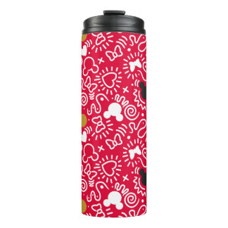 Minnie Mouse | Doodle Pattern Thermal Tumbler