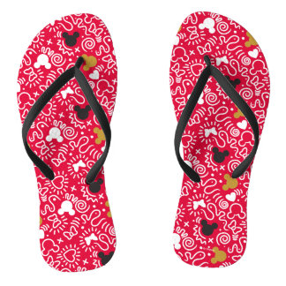 Minnie Mouse | Doodle Pattern Thongs