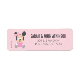 Minnie Mouse | First Birthday Return Address Label