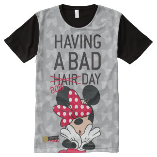 Minnie Mouse   Having a Bad Bow Day All-Over Print T-Shirt