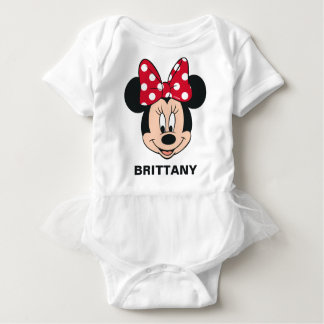 Minnie Mouse | Head Logo Baby Bodysuit