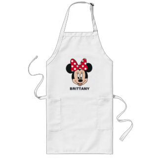Minnie Mouse   Head Logo Long Apron