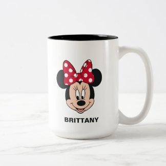 Minnie Mouse | Head Logo Two-Tone Coffee Mug