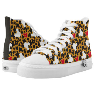 Minnie Mouse   Leopard Pattern High Tops