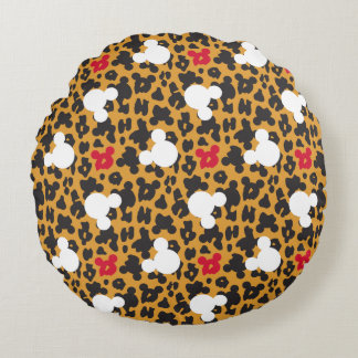 Minnie Mouse | Leopard Pattern Round Cushion