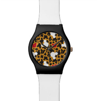 Minnie Mouse   Leopard Pattern Watch