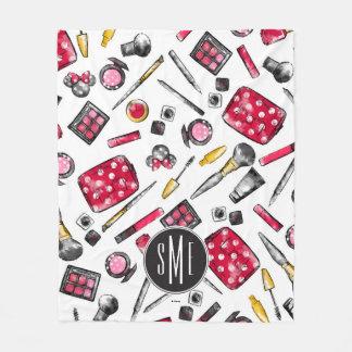 Minnie Mouse | Monogram #what'sinmypurse Pattern Fleece Blanket