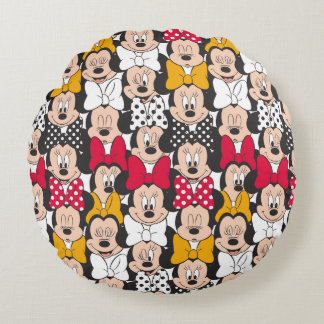Minnie Mouse | Pattern Round Cushion