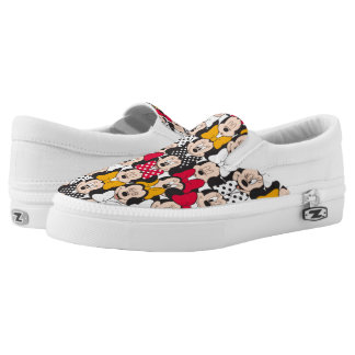 Minnie Mouse   Pattern Slip On Shoes