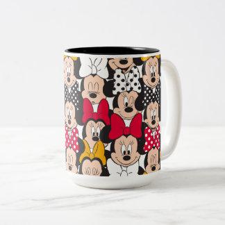 Minnie Mouse | Pattern Two-Tone Coffee Mug