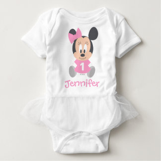 Minnie Mouse | Personalized First Birthday Baby Bodysuit