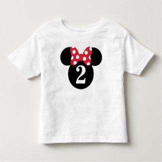 Minnie Mouse | Red & White Polka Dot Birthday Toddler T-Shirt