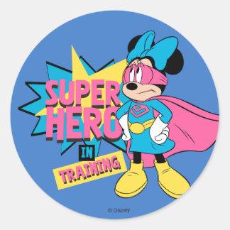 Minnie Mouse | Super Hero in Training Classic Round Sticker