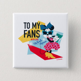 Minnie Mouse | To My Fans With Love 15 Cm Square Badge