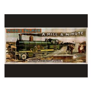Minnie Palmer, 'A mile a minute' Retro Theater Postcard