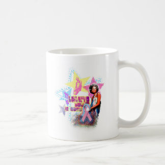 Minnie Pink Ribbon Basic White Mug